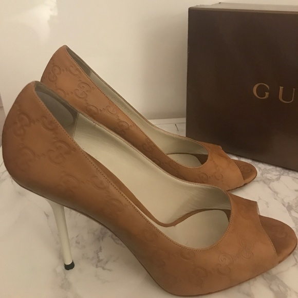 0bb891683 Gucci Shoes - Gucci Guccissima GG embossed leather OT high heels